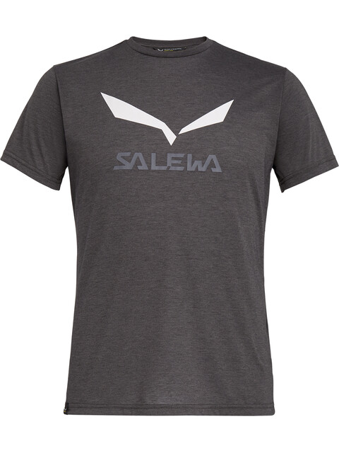 Salewa Solidlogo Dri-Release S/S Tee Men Black Out Melange